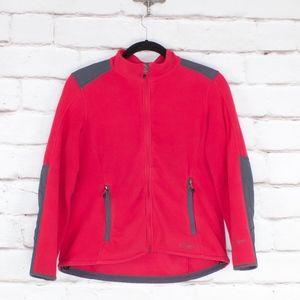 LL Bean Polartec Wind Block Pink Hooded Jacket L